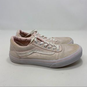 Vans Kids Pink & White Sneakers Size 5